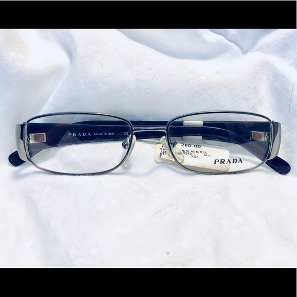 ca2176436e5 Prada VPR 68L glasses gunmetal black raspberry